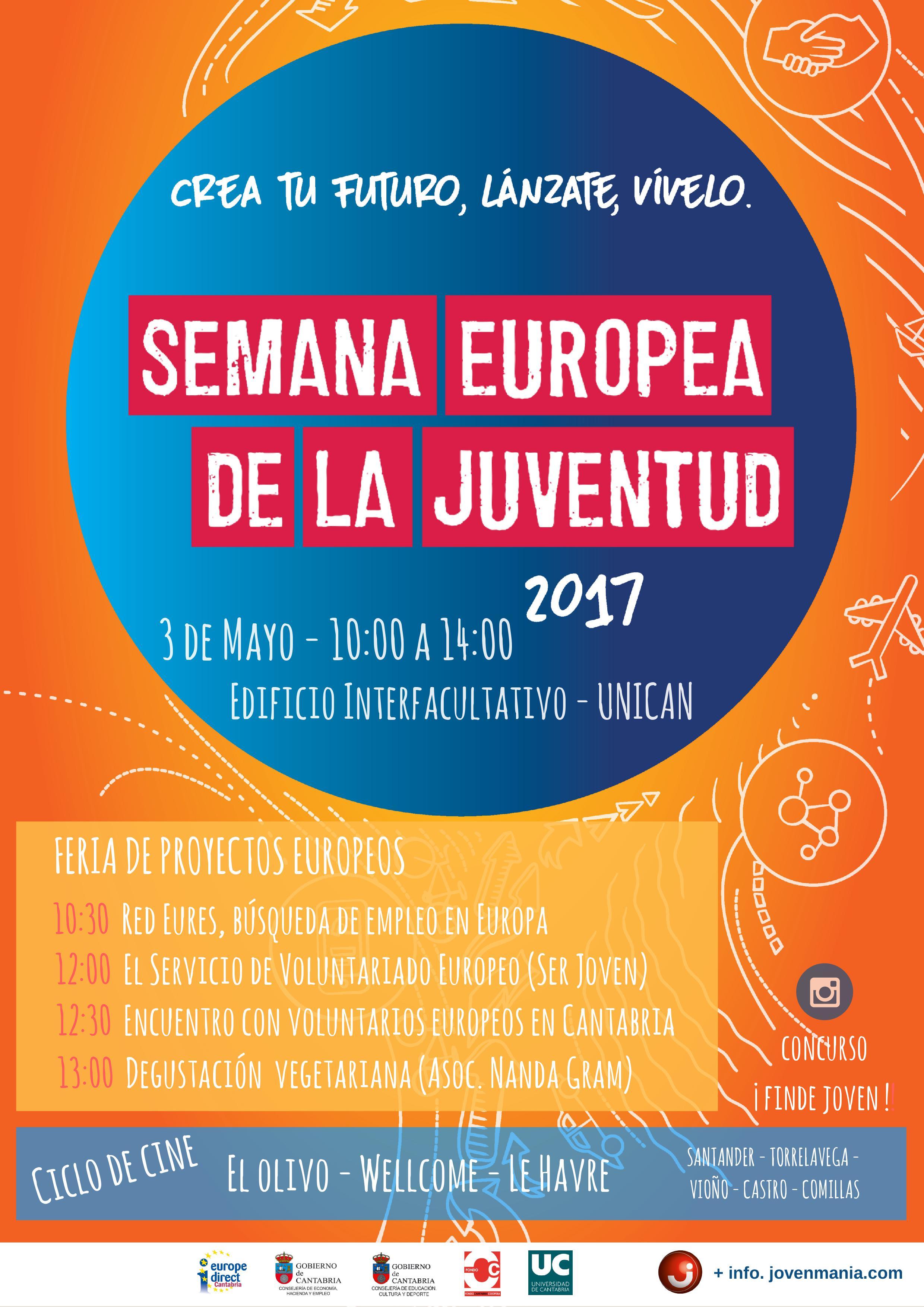 Semana Europea de la Juventud - Agenda de Actividades - EUROPA Cantabria